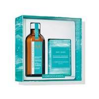 """Moroccanoil «Home & Away» Light - Набор """"лайт"""" (легкое восстанавливающее средство для волос 100 мл, мыло 200 г)"""