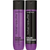 Matrix Total Results Color Obsessed - Новогодний набор для защиты цвета волос (шампунь 300 мл + кондиционер 300 мл)