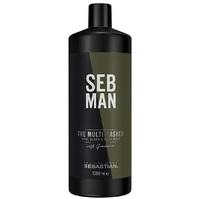 Sebastian Man The Multitasker Shampoo - Шампунь для ухода за волосами, бородой и телом 3 в 1 1000 мл