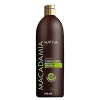Kativa Macadamia Conditioner Salt & Sulfate Free - Интенсивно увлажняющий кондиционер для нормальных и поврежденных волос 500 мл