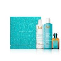 Moroccanoil Hydrating Set - Набор «увлажнение» (увлажняющий шампунь 250 мл, увлажняющий кондиционер 250 мл, масло оригинальное 25 мл)