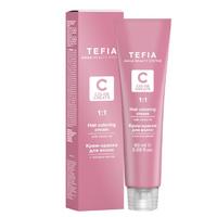 Tefia Color Creats - Крем-краска для волос с маслом монои 7.2 блондин бежевый 60 мл