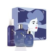 Alfaparf Semi Di Lino Volume Holiday Kit 2020 - Набор для объема волос (шампунь 250 мл, мусс-кондиционер 200 мл, несмываемый спрей для придания объема 125 мл)