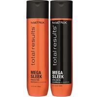 Matrix Total Results Mega Sleek - Новогодний набор для гладкости волос (шампунь 300 мл + кондиционер 300 мл)