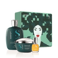 Alfaparf Semi Di Lino Reconstruction Holiday Kit 2020 - Набор для поврежденных волос (шампунь 250 мл, маска 200 мл, масло 15 мл)