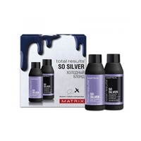 Matrix Total Results So Silver - Набор трэвел форматов для нейтрализации желтизны у блондинок (шампунь 50 мл + кондиционер 50 мл)