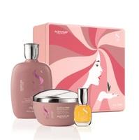 Alfaparf Semi Di Lino Moisture Holiday Kit 2020 - Набор для сухих волос (шампунь 250 мл, маска 200 мл, масло 15 мл)