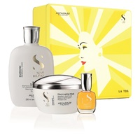 Alfaparf Semi Di Lino Diamond Holiday Kit 2020 - Набор для нормальных волос придающий блеск (шампунь 250 мл, маска 200 мл, масло 15 мл)