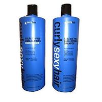 Curly Sexy Hair Curl Sulfate Free Curl Defining Shampoo + Sulfate Free Curl Defining Conditioner + Pump - Набор (шампунь для кудрей 1000 мл+ кондиционер кудрей 1000 мл+ 2 помпы)
