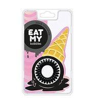 """EAT MY Bobbles Black Сhocolate - Резинки для волос """"чёрный шоколад"""" 3 шт"""