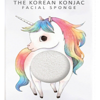 The Konjac Sponge Unicorn Standing White - Спонж для умывания лица с крючком в комплекте (без добавок)