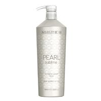 Selective Pearl Sublime Ultimate Luxury Balm - Бальзам с экстрактом жемчуга для глубокого ухода и придания блеска светлым и химически обработанным волосам 1000 мл