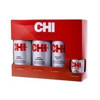 "CHI Infra Home Stylist Kit - Набор ""домашний уход"" (шампунь 355 мл, кондиционер 350 мл, мист для волос 355 мл, шелковая инфузия 59 мл)"