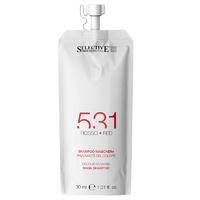 Selective 531 Shampoo-Maschera Red - Шампунь-маска для возобновления цвета волос (красный) 30 мл