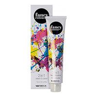 Brelil Fancy Colour - Обесцвечивающее средство и крем-краска для волос 2 в 1 (стальной) 80 г