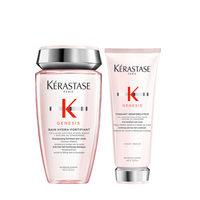 Kerastase Genesis Set - Весенний набор для укрепления волос (шампунь-ванна 250 мл, молочко для волос 200 мл)