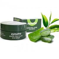Ayoume Green Tea + Aloe Eye Patch - Патчи для глаз от отечности с экстрактом зеленого чая и алоэ 60*1,4 г