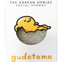The Konjac Sponge Gudetama White - Спонж для умывания лица с крючком в комплекте (без добавок)