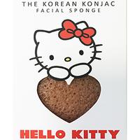 The Konjac Sponge Hello Kitty Pink Clay - Спонж для умывания лица с крючком в комплекте с розовой глиной (для чувствительной кожи)