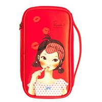 Fascy Pungseon Tina PU Beauty Pouch - Косметичка красная