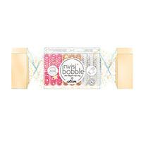 Invisibobble Slim The Wonderfuls Trio Cracker - Резинка-браслет для волос (розовый, золотой, прозрачный)
