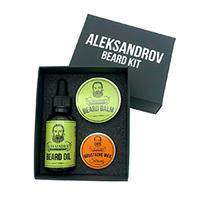 Aleksandrov Beard Kit №08 (Oil Juicy Citrus, Balm Juicy Citrus, Wax Strong Sunrise) - Набор для стимуляции роста бороды №08 (масло,бальзам,воск) 73 мл