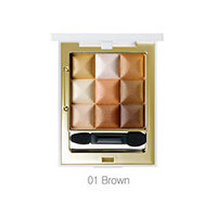 Seantree 3X3 Cube Eye Eyeshadow Color Brown - Палетка теней для век тон 01 (коричневый) 3*10 г