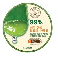 The Saem Jeju Fresh Aloe Soothing Gel 99% - Гель с алоэ универсальный увлажняющий 300 мл