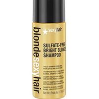 Sexy Hair Blonde Sulfate-free Вright Вlonde Shampoo - Шампунь для придания холодного оттенка светлым волосам без сульфатов 50 мл