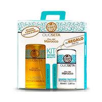 Barex Olioseta Oro De Marocco - Подарочный набор в бирюзовой косметичке (шампунь 250 мл + масло-уход 30мл)
