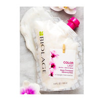 Matrix Biolage Colorlast Deep Treatment Vibrancy Pack - Маска-концентрат с орхидей и семечками абрикоса для глубокого восстановления сухих волос 100 мл