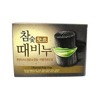 Mukunghwa Hardwood Charcoal Scrub Soap - Мыло-скраб древесный уголь 100 г