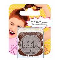 Invisibobble Original Pretzel Brown - Резинка-браслет для волос с подвесом (коричневый) 3 шт