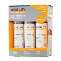 Bosley Воs Defense Starter Pack for Fine Color-Treated Hair - Система для нормальных/тонких окрашенных волос (шампунь, кондиционер, уход) 150 мл+150 мл+ 100 мл