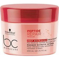Schwarzkopf BC Bonacur Peptide Repair Rescue Deep Nourishing Treatment - Интенсивная питательная маска для волос 200 мл