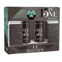 Selective All in One Beard Set - Набор (шампунь для ухода за бородой 100 мл + маска для ухода за бородой 100 мл)