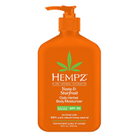 Hempz Yuzu & Starfruit Daily Herbal Body Moisturizer SPF 30 - Молочко солнцезащитное увлажняющее для тела юдзу и карамбола 250 мл
