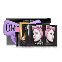 "Double Dare OMG Premium Package - Набор ""спа"" из 4 масок, кисти и лавандового банта-повязки"