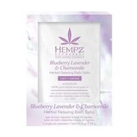 Hempz Blueberry Lavender & Chamomile Herbal Relaxing Bath Salts - Соль для ванны расслабляющая лаванда, ромашка и дикие ягоды 2*28 г