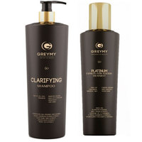 Greymy Platinum Express Hair Keratin Treatment + Clarifying Shampoo - Платинум экспресс кератиновый крем для разглаживания 500 мл + очищающий шампунь 800 мл