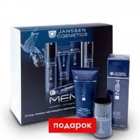 """Janssen Man Set Cleansing & Care - Набор для мужчин """"очищение и уход"""" (крем для умывания и бритья 75 мл, легкий дневной крем 24-часового действия 50 мл, дезодорант 30 г)"""