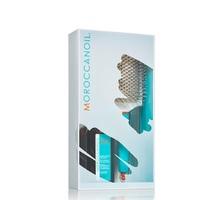 "Moroccanoil Set - Набор для укладки и стайлинга ""лайт"" 2020 (масло лайт 100 мл + щетка лопатка)"
