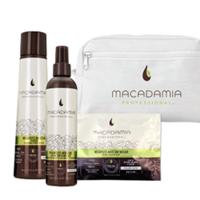 Macadamia Weightless Moisture Beauty Bag - Набор для тонких волос (в белой косметичке)