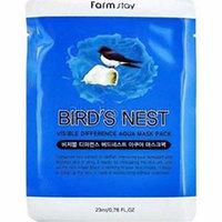 Farmstay Visible Diference Bird`s Nest Aqua Mask Pack - Маска тканевая с экстрактом ласточкиного гнезда 23 мл