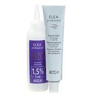 Elea Professional Lux Color Eyebrow Black - Краска для бровей и ресниц тон 1.11 иссиня черный 40 мл + 60 мл