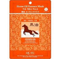 Mijin Cosmetics Essence Mask Horse Oil - Маска тканевая конский жир 23 г