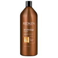 Redken All Soft Mega Shampoo - Шампунь для очищения, питания и смягчения очень сухих и ломких волос 1000 мл