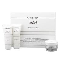Christina Wish Radiance kit - Набор для интенсивного ухода за кожей лица 2*75 мл+50 мл