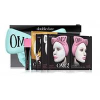 """Double Dare OMG Premium Package - Набор """"спа"""" из 4 масок, кисти и мятного банта-повязки"""