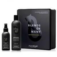 Alfaparf Bom Gift Box 2019 Blends Of Man - Подарочный набор для волос и бороды (шампунь 250 мл, несмываемый бальзам для бороды и кожи 100 мл)